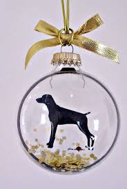 weimaraner ornament gifts for