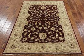 Wool Area Rugs 4x6 Peshawar 4x6 Knotted Wool Area Rug W170