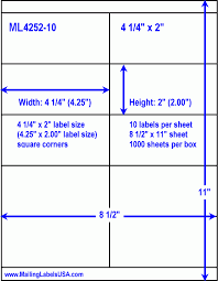 2 X 4 Label Template 10 Per Sheet Address Labels Blank Address Labels Similar To Avery Address