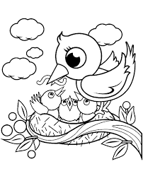 bird coloring 6 print color free