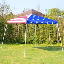 American Flag Price Outsunny 10x10 American Flag Slant Leg Pop Up Canopy Shelter Party