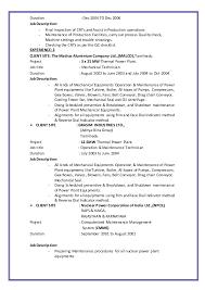 Maintenance Job Description Resume by Job Description Hvac Mechanical Engineering Job Openings