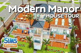the sims freeplay modern manor original house design youtube