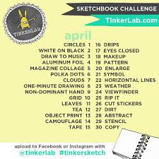 Challenge On Tinkersketch Instagram Sketchbook Challenge Tinkerlab