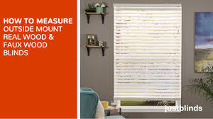how to measure for outside mount wood u0026 faux wood blinds