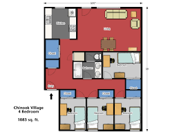 4 bedroom apartment floor plans housing u0026 residence life washington state university