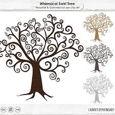 Wish Tree Digital Tree Clipart Diy Family Tree Clip Art Whimsical Wish