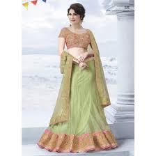 pastel green color lehenga choli sku no mah 6716