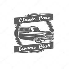 classic toyota logo retro vintage classic cars owners club logo u2014 stock vector