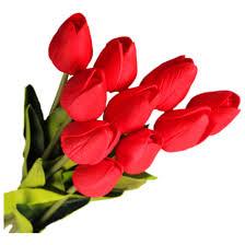 30pcs lot tulip artificial flower real touch pu artificial bouquet
