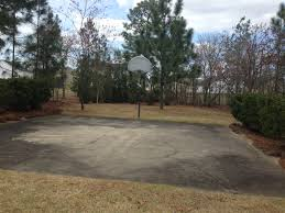 Backyard Basketball Court Ideas by Outdoor Basketball Court Backyard Cost With Single Ring Design