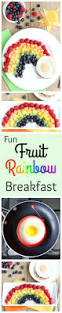 fruit rainbow with a pot of gold fun breakfast idea for kids