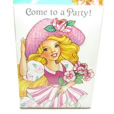 Birthday Party Invitation Card Peppermint Rose Invitations Vintage Birthday Party Invite Cards
