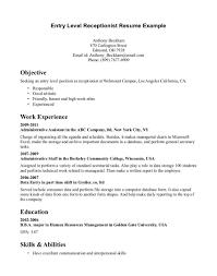 front desk resume sle front desk receptionist resume professional medical sle livecareer