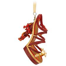 your wdw store disney shoe ornament princess mulan mushu