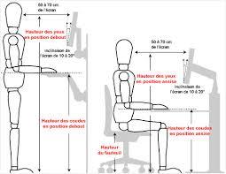 hauteur bureau ergonomie chaise de bureau ergonomique dos designs attrayants hauteur