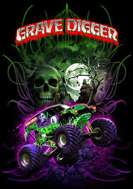 grave digger monster truck poster it s the black and green wrecking machine grave digger between