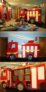 bed fire truck themed bedroom
