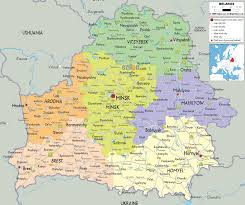 map of belarus detailed political map of belarus ezilon maps