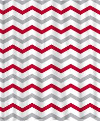 Red White Shower Curtain Custom Colors Shower Curtain Chevron Red Grey And White Any