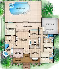 beach style house plan 3 beds 4 50 baths 2522 sq ft plan 27 437