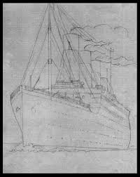 how to draw the titanic image titanic drawing step by