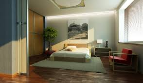 white wooden japanese style platform bed in a good style bedroom