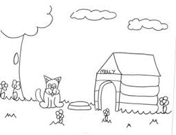 coloring page of a big dog dog house coloring pages getcoloringpages com