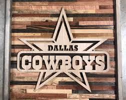 Dallas Cowboys Wall Decor Dallas Cowboys Sign Etsy