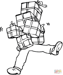 full hands of presents coloring page free printable coloring pages