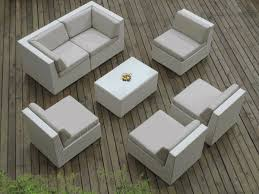 Pc Set - Outdoor white wicker furniture