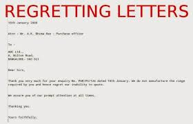 regret letter business the letter sle pertaining to regret