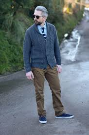 a stylish way for over 40 men to wear a cardigan silver londoner