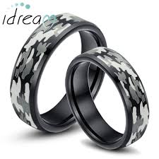 camo wedding bands his and hers rings for his and hers rings idream jewelry