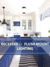 Kitchen Flush Mount Lighting Trending In The Kitchen Flush Mounts Replacing Recessed Lighting