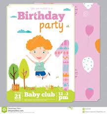 Templates For Invitation Cards Birthday Party Invitation Card Template Vertabox Com