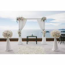 wedding backdrop set up allenjoy wedding backdrop set up arch outdoor flowers blanket sea