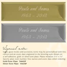 50th wedding anniversary plates golden 50th wedding anniversary guest book