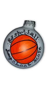 personalized basketball ornament painted