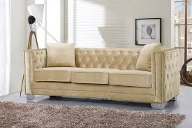 reese velvet sofa beige buy online at best price sohomod