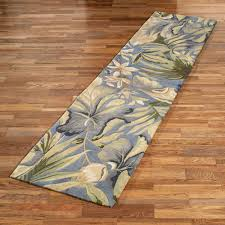 Blue Runner Rug Paradise Blue Tropical Area Rugs