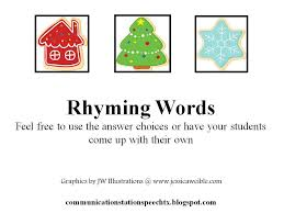 a processing rhyming words communication station