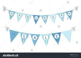 hanukkah sale festive bunting flags hanukkah sale stock vector 333277280