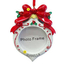 personalized picture frame ornaments callisters