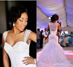 modest mermaid bridal gown organza see through wedding dresses