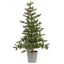 36 green fir trees artificial tree in tin pot reviews