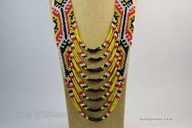 ethnic statement necklace images Tribal statement necklace ethnic mandaya beaded design deomar jpg