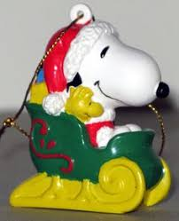 skiing snoopy ornament snoopy ornament and brown