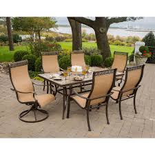 Dining Room Swivel Chairs Hanover Monaco 7 Piece Outdoor Patio Dining Set Monaco7pcsw The