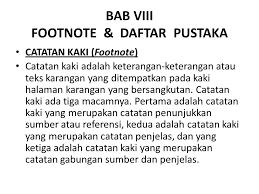 daftar pustaka merupakan format dari bab viii footnote daftar pustaka ppt download